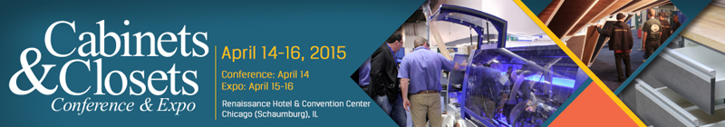 Cabinet Closet Expo 2015 Banner
