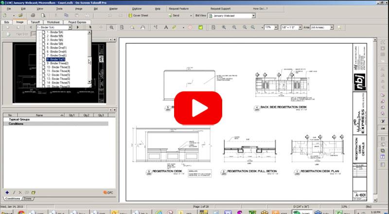 webcast onscreen takeoff estimating bidding software