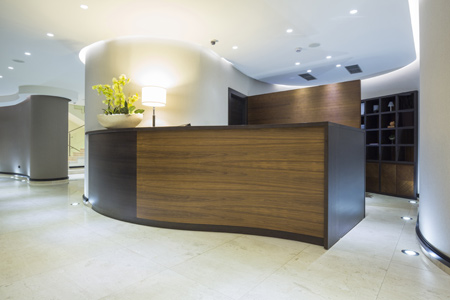 woodCAD|CAM reception desk