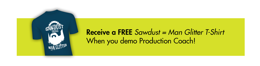 Free T-Shirt when you demo Production Coach - IWF 2018